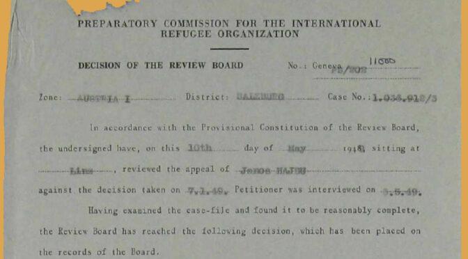 Negotiating Resettlement – Zur Aushandlung von Mobilitätschancen nach dem Zweiten Weltkrieg