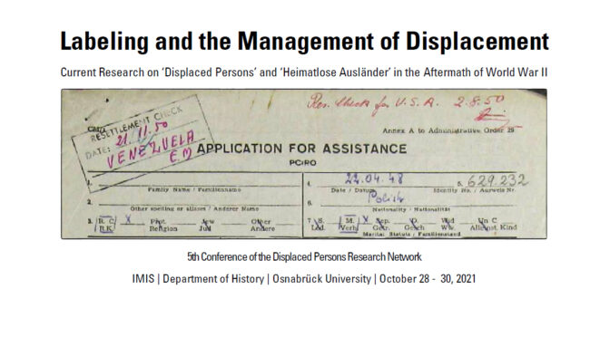 International Conference: Labeling and the Management of Displacement